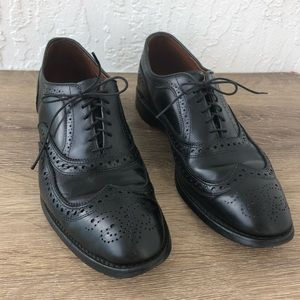 McAllister Wingtip lace up Oxford Shoe in black